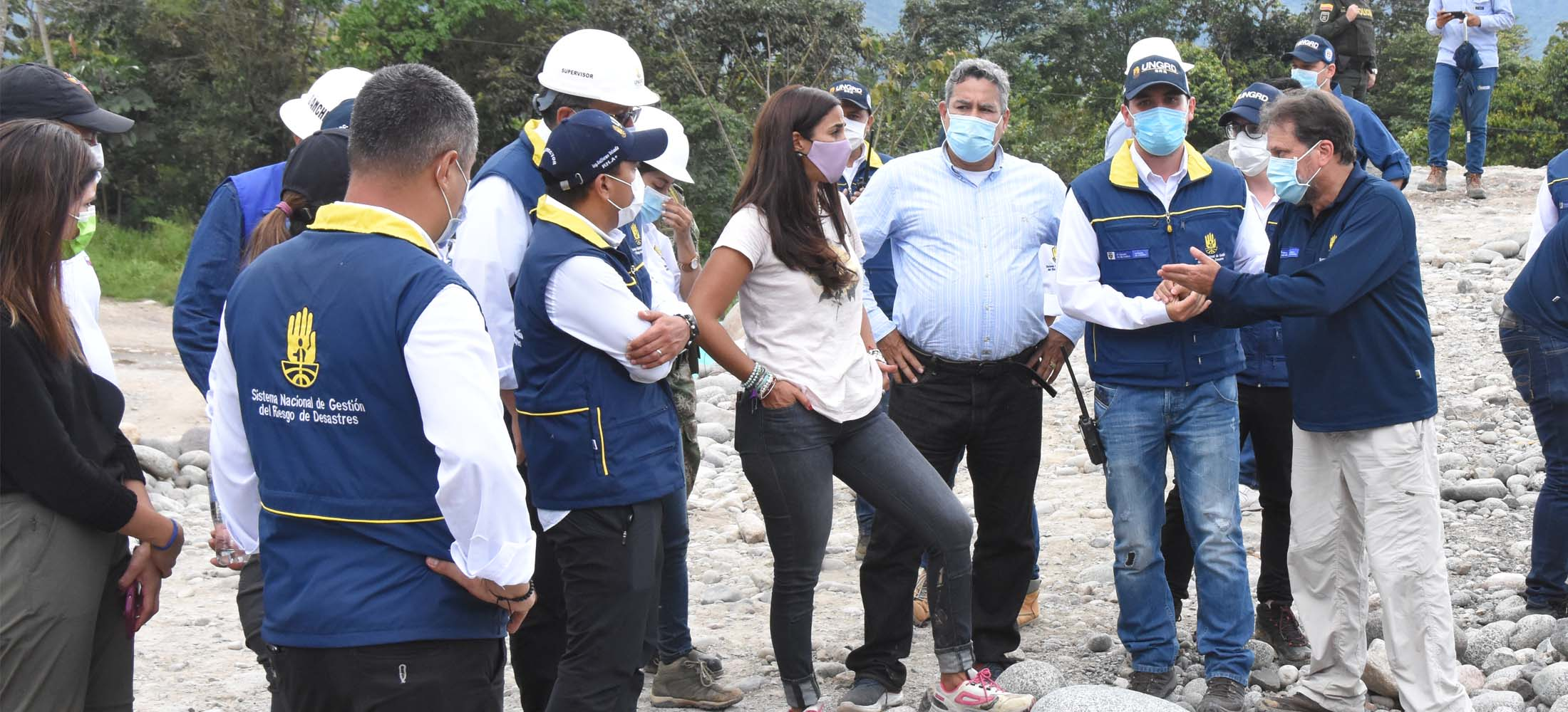 Director de la UNGRD, Eduardo José González, junto a equipo de Mocoa hacen seguimiento a la reconstrucción